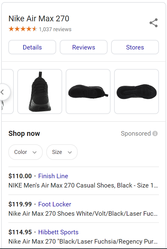 google shopping ads product detail